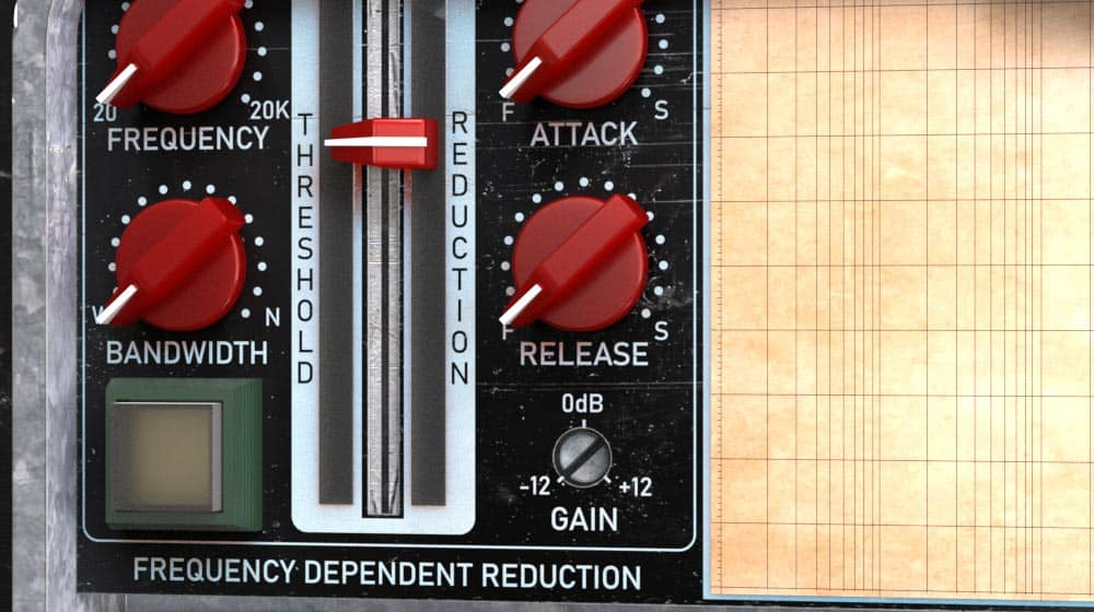 Amplified Instrument Processor (the AIP) frequency dependent gain reduction area