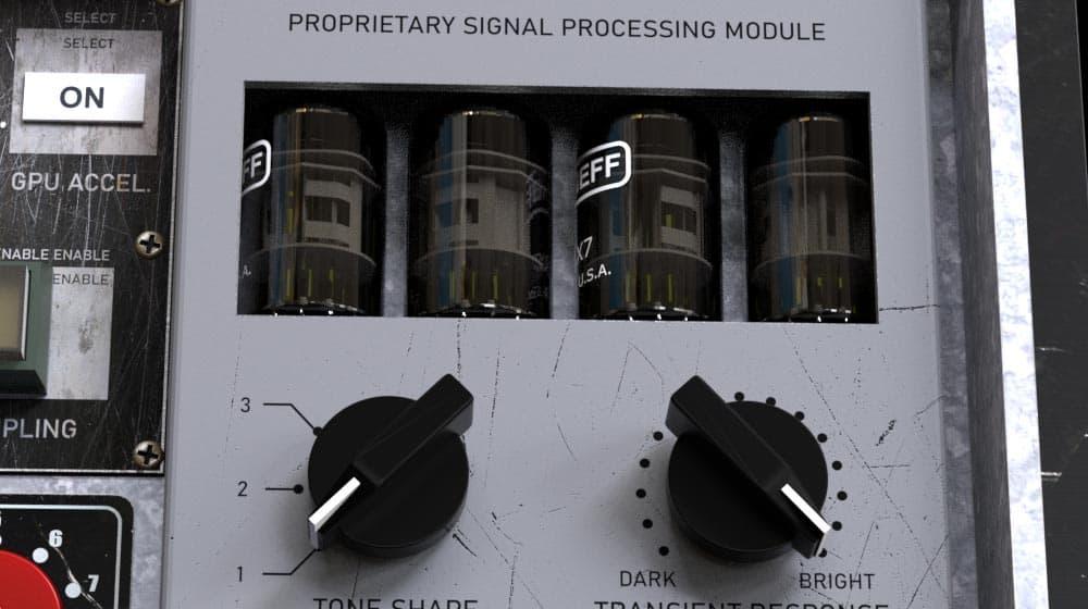 Amplified Instrument Processor (the AIP) proprietary signal processor