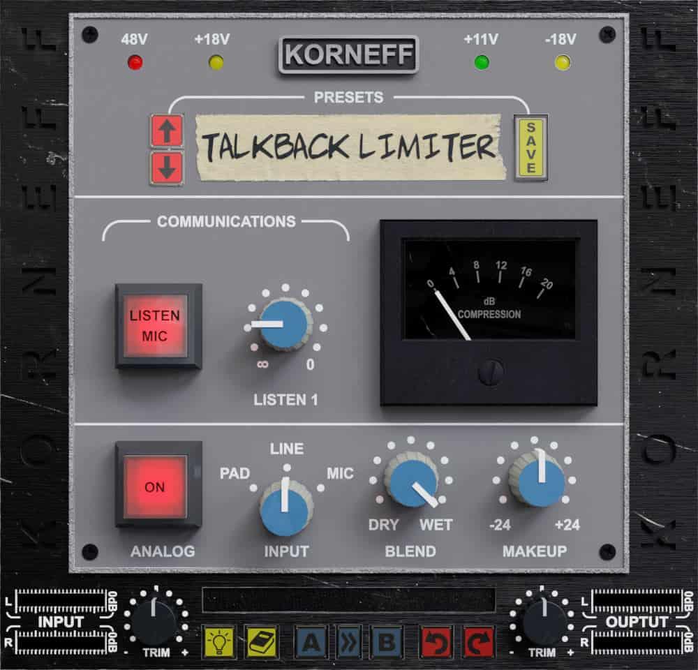 Talkback Limiter front view
